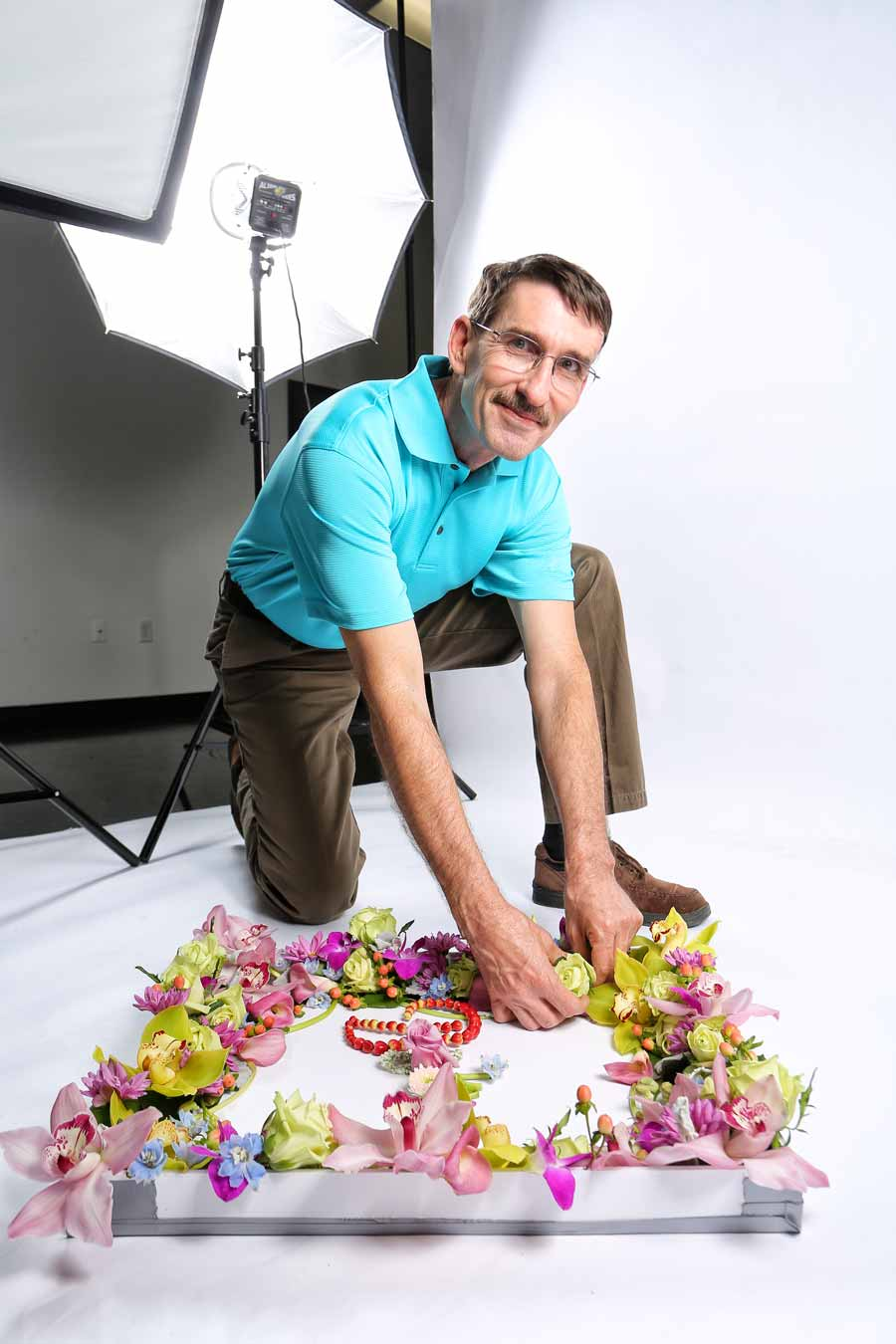 March 2014: Bob Tucker definitely drives Miss Daisy's Flowers and Gifts, the downtown Leesburg business that's first choice of brides in Lake County. Bob really blossomed when the Florida State Florists Association named him Designer of the Year.