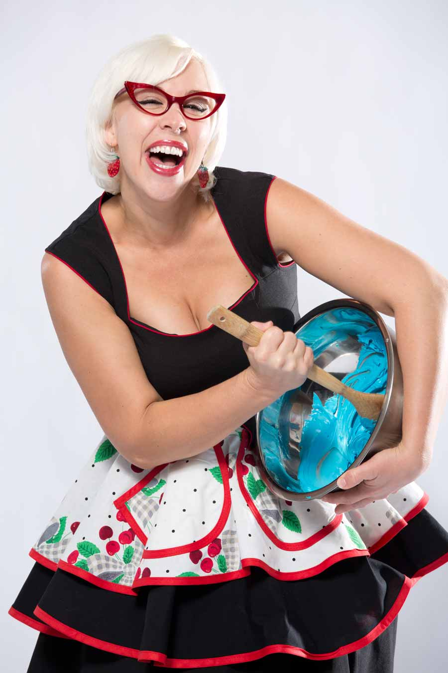 January 2014: Retro rad chef Emily Ellyn whipped it, whipped it good during one of our funnest cover shoots ever.