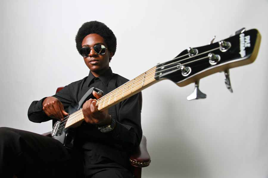 August 2014: Ace of bass (and six other  instruments) Marques Rudd. Tavares High School. Super fly. 'Nuff said.