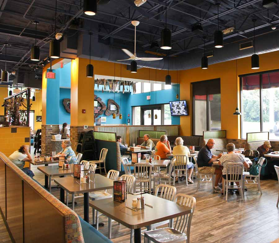 July 2014: 'Shroom room. Purveyors of perfect pizza praise Mellow Mushroom came to Mount Dora.