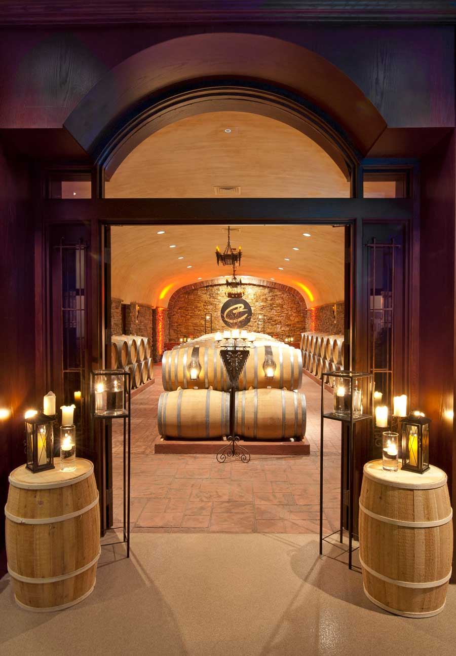The Barrel Cave entry at Childress Vineyards