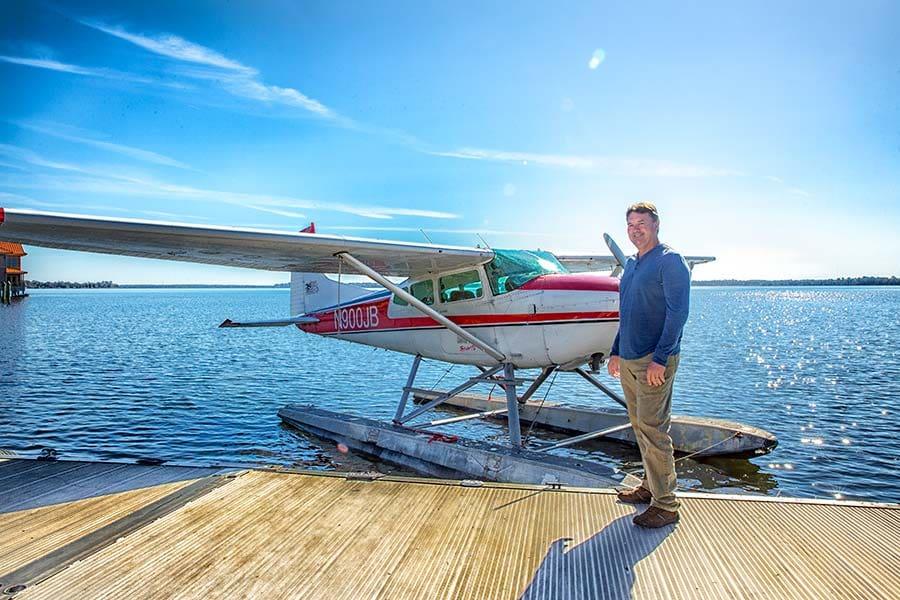 man-by-seaplane