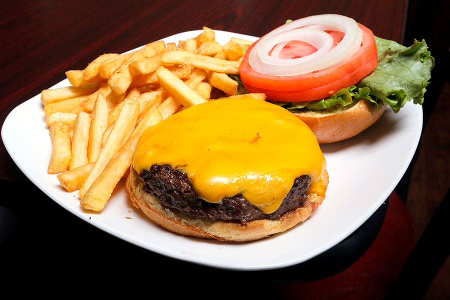cheese-burger-on-plate