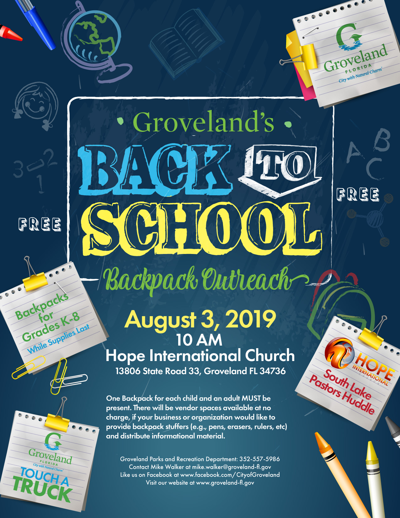groveland-back-to-school-backpack-outreach-flier