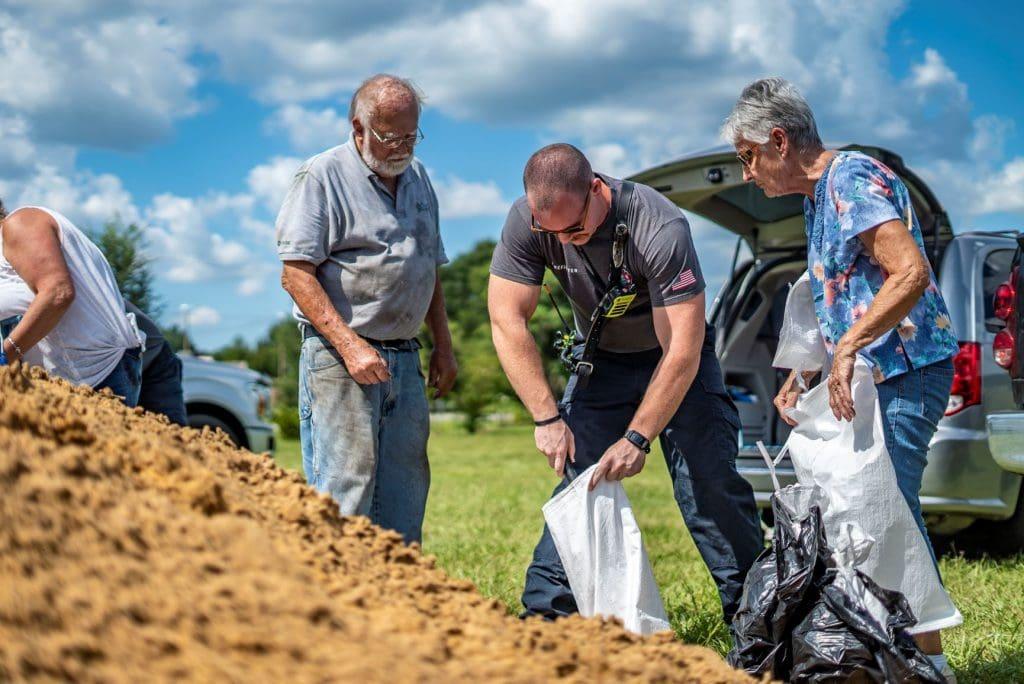 lake-county-sandbags-hurricane-dorian