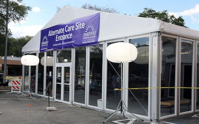 parrish-medical-center-coronavirus-testing-tent