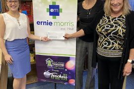 Ernie Morris Enterprises donates $5,000 to support Teacher of the Year program